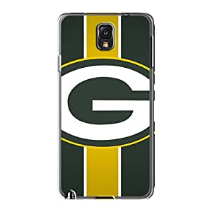 Durable Hard Cell-phone Case For Samsung Galaxy Note 3 With Unique Design Realistic Green Bay Packers Pictures AshleySimms