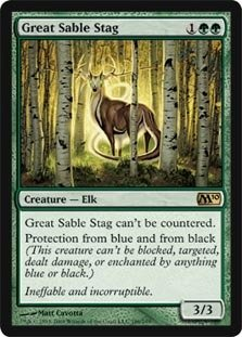Magic: the Gathering - Great Sable Stag - Magic 2010 - Foil