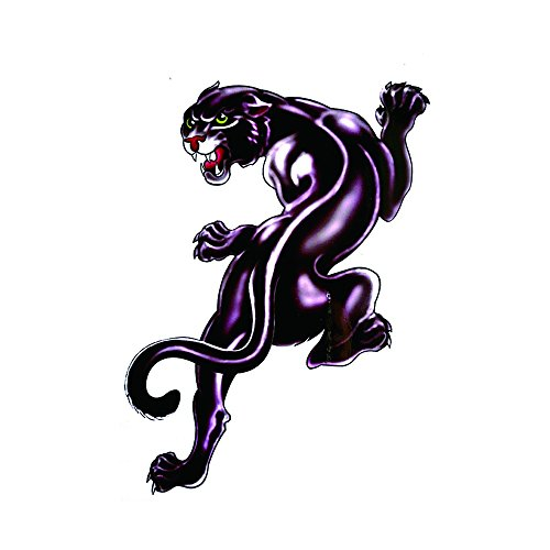 WYUEN 5 PCS Panther Men Temporary Tattoo Stickers Waterproof Women Fake Hand Animal Tattoos Adult Men Body Art 9.8X6cm FA-264 (Panthers Body Art)