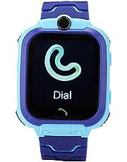 Pbzydu Multifunctionele draagbare smartwatch, comfortabel digitaal polshorloge, waterdicht calling girls IOS voor jongens (blauw)