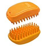 Kuntrona Pet Dog Cat Bath Brush Comb Comfortable Glove Hair Fur Grooming Cleaning Massage Dogs Cats Brush Pet Supplies Orange M