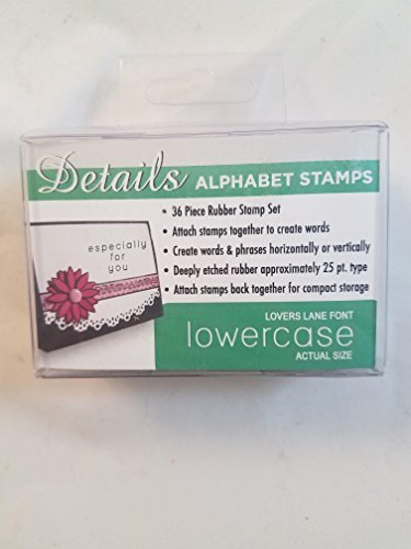 (Details Alphabet Stamps Lovers Lane Lowercase)