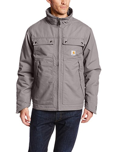 Carhartt Men's Quick Duck Jefferson Traditional Jacket,Charcoal,Medium