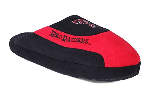 OFFICIALLY Feet Raiders LICENSED Mens Pro Red College Happy Tech Womens Slippers Texas NCAA and Low qIZAZwd