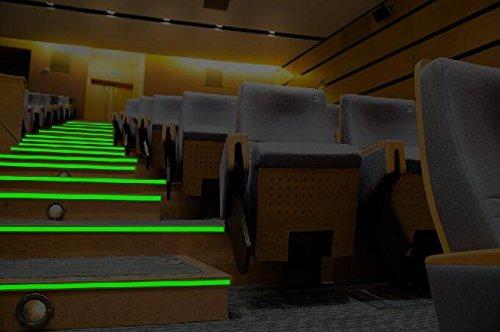 Starrey Glow in the dark tape Sticker Waterproof 1 inch 30 ft long lasting minmum 8 hours self-adhesive Luminous Photoluminescent/Luminescent Emergency Roll Luminous tape for stair theater by Starrey (Image #5)
