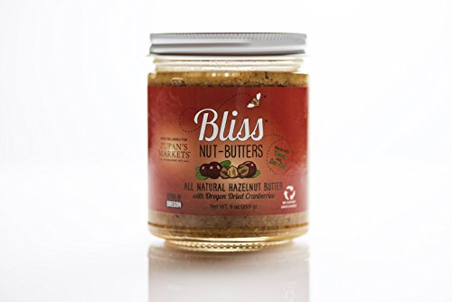 All Natural Hazelnut Butter w/ Honey and Dried Cranberries - Bliss Nut Butters 12oz Glass Jar- All Natural Hazelnut Butter with Organic Honey, Sea Salt and Dried Cranberries!