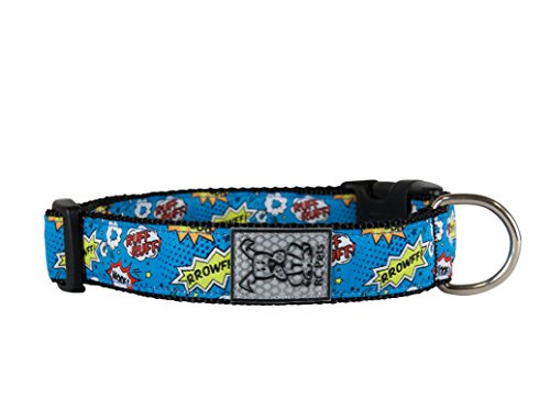 RC Pet Products 1 Inch Adjustable Dog Clip Collar, Medium, Comic Sounds by RC Pet Products