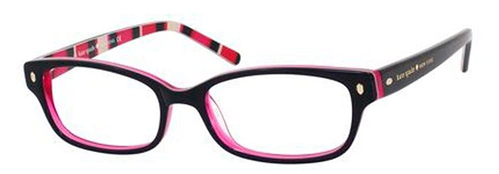 97973b030a32 Amazon.com  Kate Spade Lucyann Eyeglasses-0X78 Black Pink Striped -53mm   Shoes