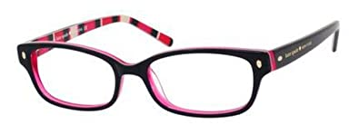 6a9532f8ad4 Image Unavailable. Image not available for. Color  Kate Spade Lucyann  Eyeglasses-0X78 Black Pink Striped -47mm