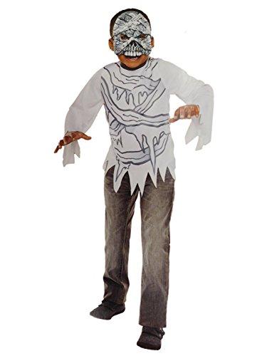 Boys Mummy Halloween Costume Top & Mask Set L10-12
