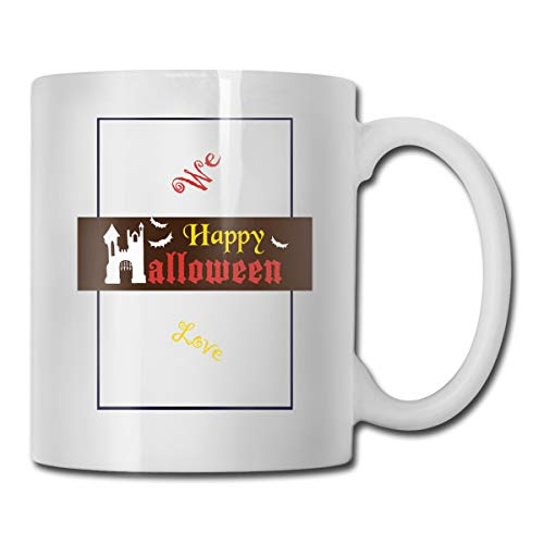 DGKICV Custom Cup-Cheer Happy Peanuts Halloween Witches Brew 11 Ounce White Ceramic Coffee Tea Mug for $<!--$9.99-->