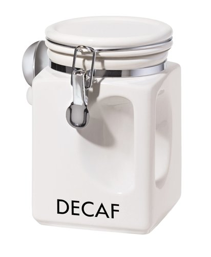 Oggi EZ Grip Decaf Canister, White