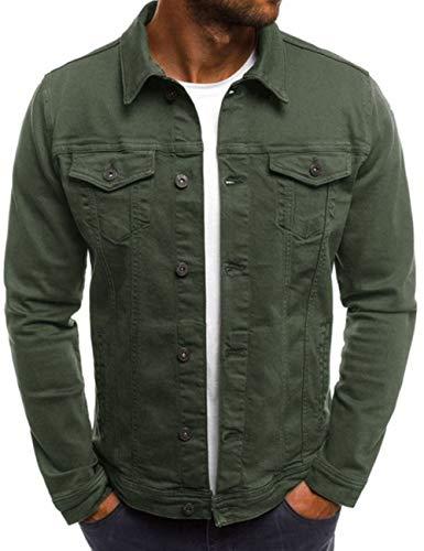 SOMTHRON Men's Oversize Cozy Regular Fit Utility Pocket Overshirt Long Sleeve Slim Fit Button Up Denim Field Shirt Jacket(AG-2XL)