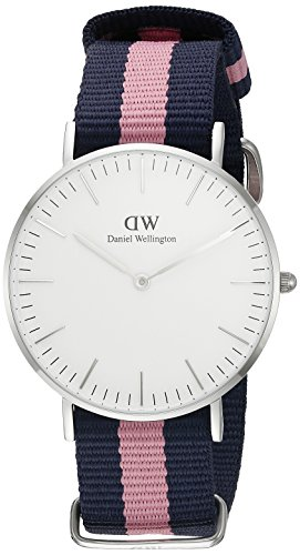 Daniel-Wellington-Reloj-analgico-para-mujer-de-nailon-multicolor