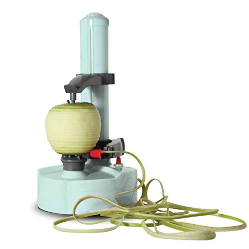 Dash Rapid Electric Potato Peeler Tool + Fruit Skinner with BPA Free Plastic, Auto Shut Off Function, 2 Replacement Blades, Paring Utensil, Recipe Book, Aqua