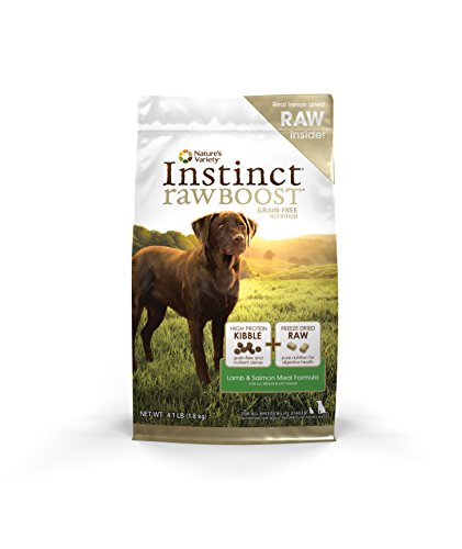 Nature's Variety Instinct Raw Boost Grain Free Lamb & Salmon Meal Formula Dry Dog Food, 4.1 lb. Bag