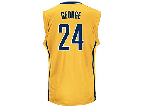 NBA Indiana Pacers George P # 13 Boys 8-20 Replica Alternate Jersey, Large (14/16), Gold (Pacers Alternate Jersey)