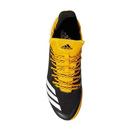 Image of the adidas Icon 4 Cleat Men s Baseball 14 Black-Cloud White-Yellow e83b65613