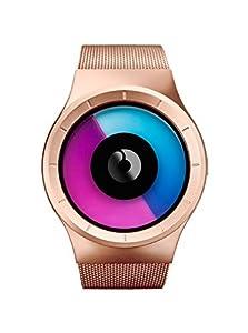 Ziiiro Mens Celeste Z0005WRM Rose Gold Purple Watch from Ziiiro
