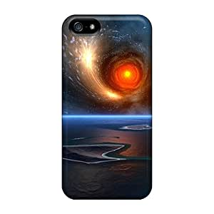 Excellent Design Moon Ocean Space Background Phone Case For Iphone 5/5s Premium Tpu Case by ruishername