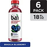 Bai Flavored Water, Brasilia Blueberry, Antioxidant Infused Drinks, 18 Fluid Ounce Bottles, 6 count