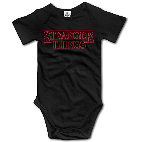 DW Toddler Stranger Things Short Sleeve Climb Clothes Romper Black 6 M