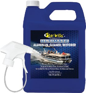 Star Brite Ultimate Aluminum Cleaner & Restorer - Safely Clean Pontoon Boats, Jon Boats & Canoes (Aluminum Cleaner Brite)