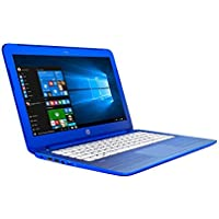 HP Stream 2016 Model 13.3-inch HD Laptop High Performance | Intel Dual-Core | 2GB RAM | 32GB SSD | 1 Year Office 365 | Bluetooth | WiFi | Windows 10 (Blue)