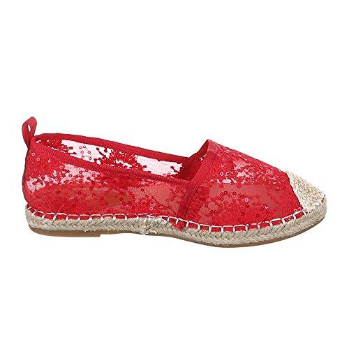 Ital-Design - Zapatos Mujer Rojo - rojo
