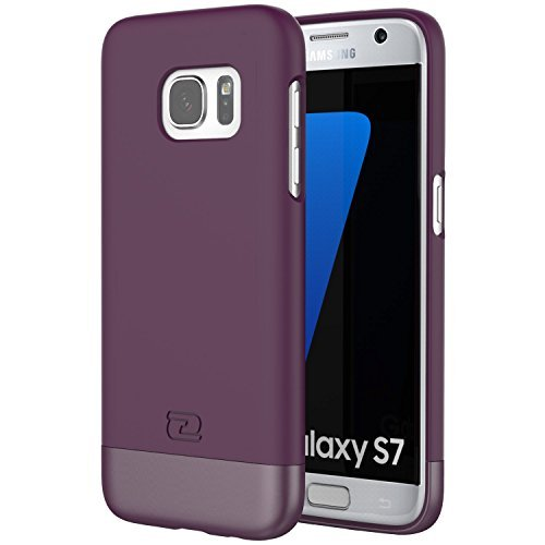 Samsung Galaxy S7 Case, Encased® Ultra-thin SlimSHIELD Hybrid Shell (**4 Cool Colors Available**) (Royal Purple)