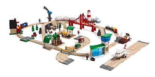 productos creativos - BRIO Railway World Deluxe Train and Road Track Set Set Set by BRIO  moda