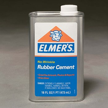 4 Pack ELMERS - BORDEN RUBBER CEMENT CAN 16OZ. by Elmer's