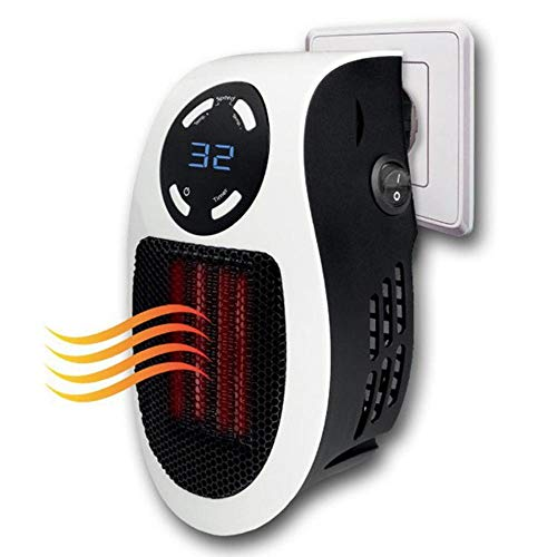 FOONEE Mini Space Heater, Office Heater 500W Portable Home Wall-Outlet Warmer Fan Air Heater