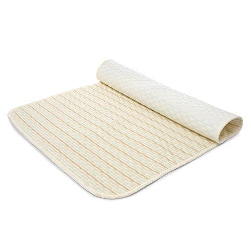 Changing Pad - Portable changing pad 100% Cotton Waterproof Diaper Changing Padding Multi-function Changing Mat (Light Brown)