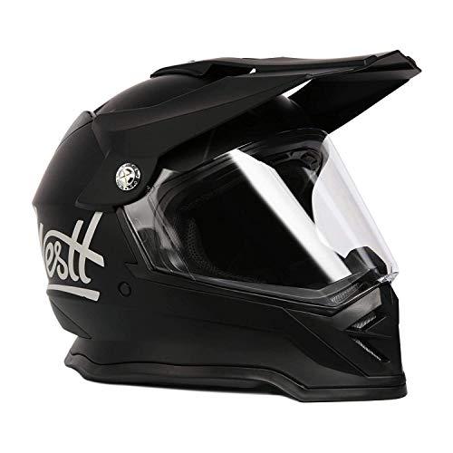 WESTT Cross X Motorrad-Helm I Motocross-Helm I Motorradhelm schwarz-matt I Motocross-Helm mit Visier I Cross-Helm-Herren…