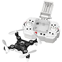 FQ777 FQ11W 2.4G 4CH 6-Axis Gyro WIFI FPV Mini Pocket Drone Rotatable RC Quadcopter With 0.3MP Camera (Black)