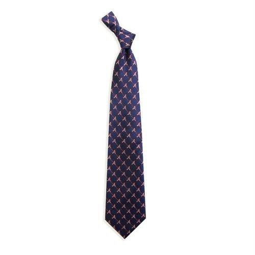 Braves Tie - Atlanta Braves Woven 1 Silk Necktie
