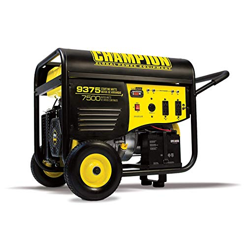 Champion 7500-Watt Portable Generator with Electric Start and 25-ft. Extension Cord For Sale