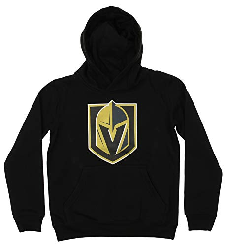- Outerstuff NHL Youth Boy's (8-20) Primary Logo Team Color Fleece Hoodie, Vegas Golden Knights Medium(10-12)