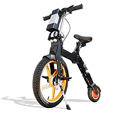 Folding Electric Bike 250W 36V Collapsible Electric Commuter Bike Ebike with 2 USB Charge Port