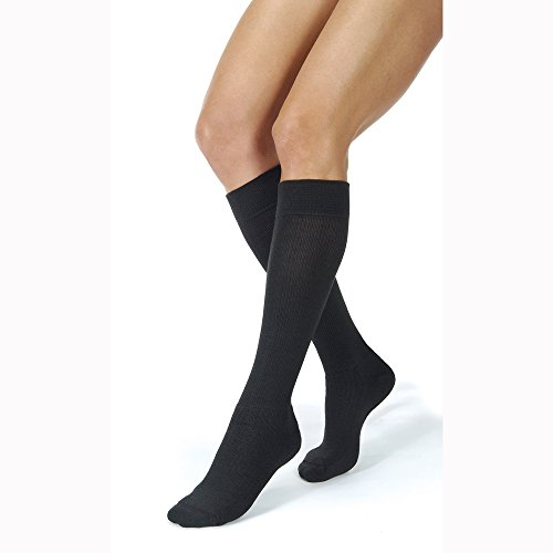 BI110495 - Bsn Jobst JOBST ActiveWear Knee-High Firm Compression Socks Large, Black