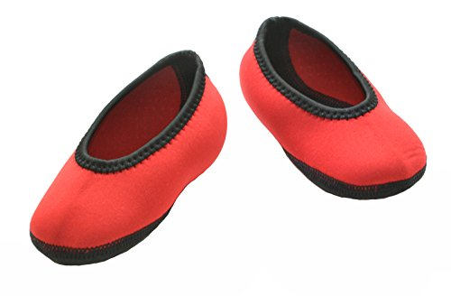 Nufoot Indoor Toddler Shoes Ballet Flat, Red, Size 9T- 12T 2 Count
