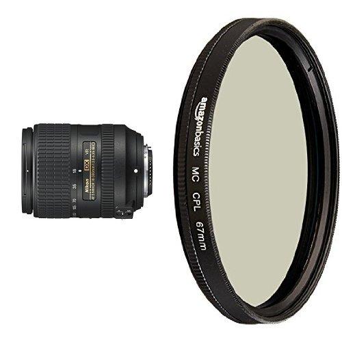 Nikon AF-S DX NIKKOR Vibration Reduction Zoom Lens with Circular Polarizer Lens - 67 mm