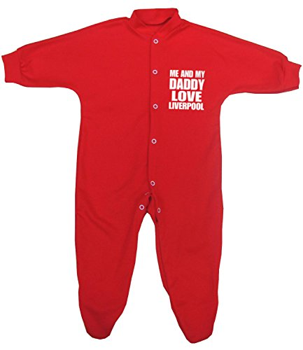 BabyPrem Baby Me & My Dad Love Liverpool Sleeper Footie Clothes NB-12 mth 0-3 Red