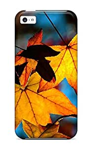 Ideal Craigmmons Case Cover For Iphone 5c(autumn Leaves Light Yellow Shade Fall Nature Autumn), Protective Stylish Case