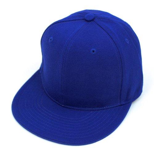 DECKY Men's Fitted Baseball Hat Cap Flat Bill Blank-7 5/8-Royal Blue