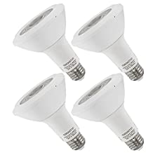 4-Pack 13.5W Dimmable PAR30 LED Bulb - 75W Equivalent UL-listed Long Neck LED PAR30 Light Bulb, Warm White 3000K 850LM 40 Degree Beam Angle for Stage, Scene, Event, Home, Commercial, General Lighting