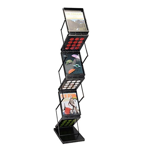 Trade Show Magazine Legal Documents Display Holder Pop-Up Literature Rack Folding Foldable Design 6 Pocket Brochure Rack Portable Wall Stand Collapsible Metallic Design Simple - 6 Store Melbourne South