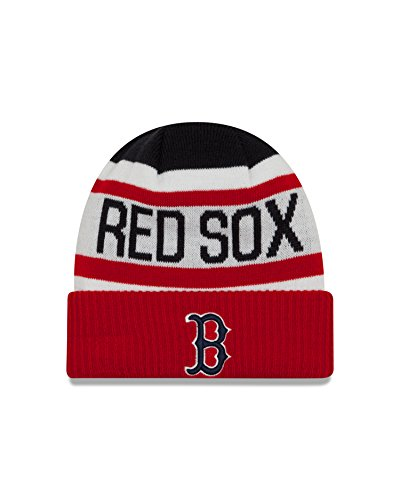 Sox Red Beanie (New Era MLB Boston Red Sox Biggest Fan 2.0 Cuff Knit Beanie, One Size, Scarlet)