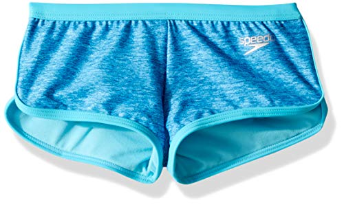 - Speedo High Neck Camikini Boyshort Twopiece, Blue, 10